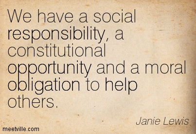 Social Responsibility & Charity in our Business…